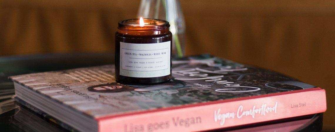 Lisa goes Vegan samenwerking Brandt kaarsen